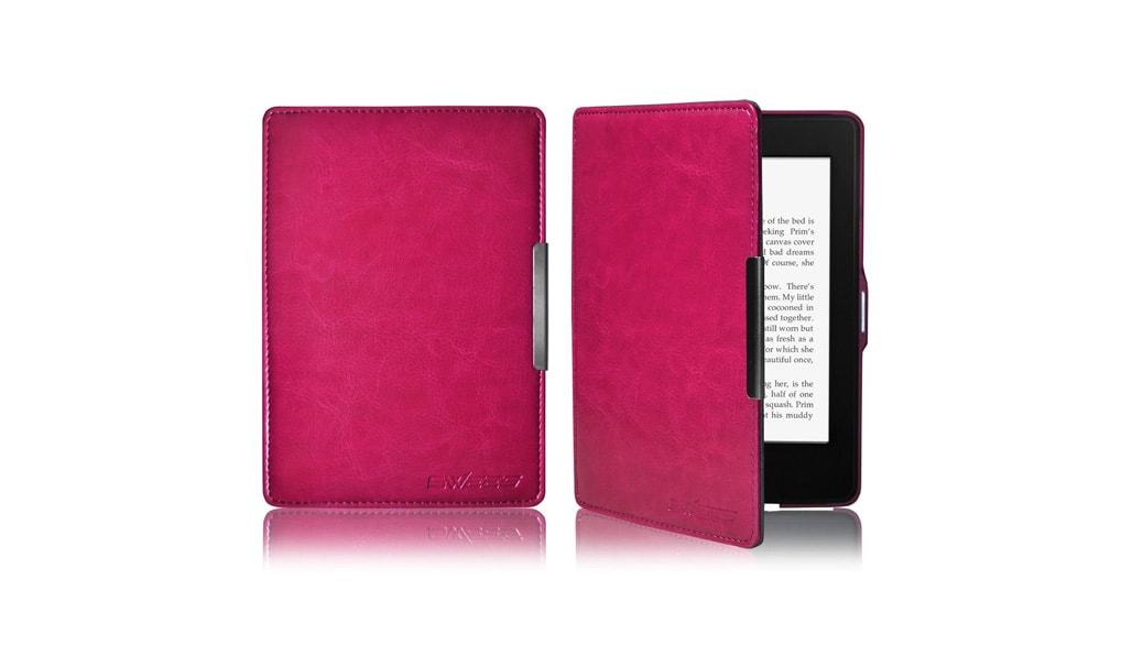 Funda de cuero para el ebook kindle paperwhite swees kindle tablets ereaders smartphones - Fundas para ebook ...