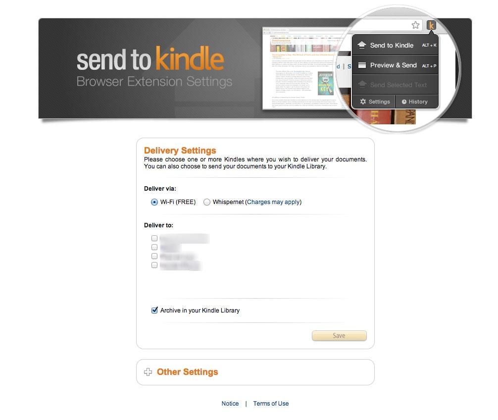 Cómo enviar contenido al Kindle con extensiones para Chrome y Firefox