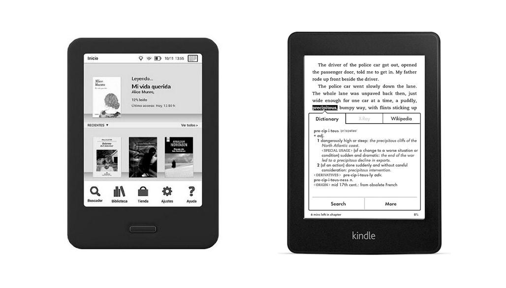 Kindle Vs Sony Reader: Comparativa EReaders: BQ Cervantes Vs Kindle Paperwhite