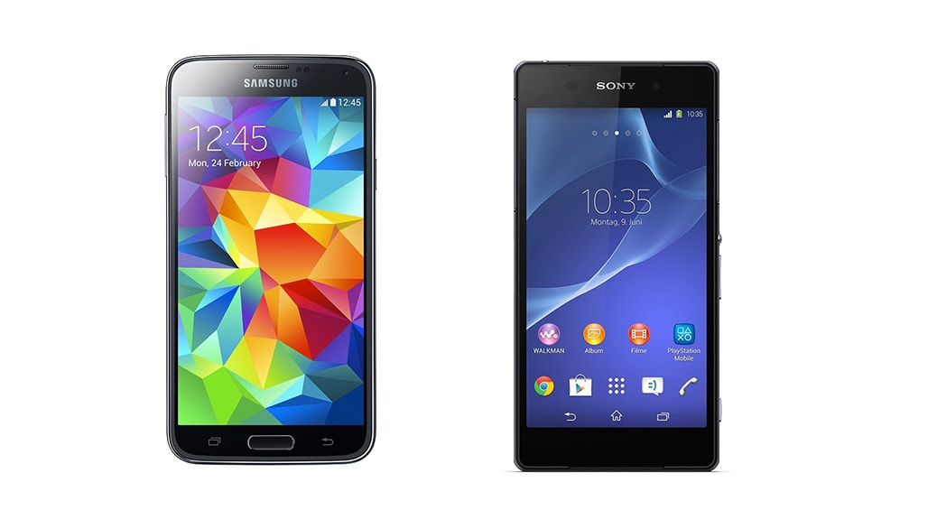 Comparativa smartphones: Samsung Galaxy S5 vs Sony Xperia Z2