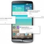 Función Smart notice del LG G3