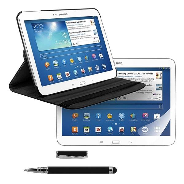 3en1: Funda premium para Samsung Galaxy Tab 3 10.1 en Negro