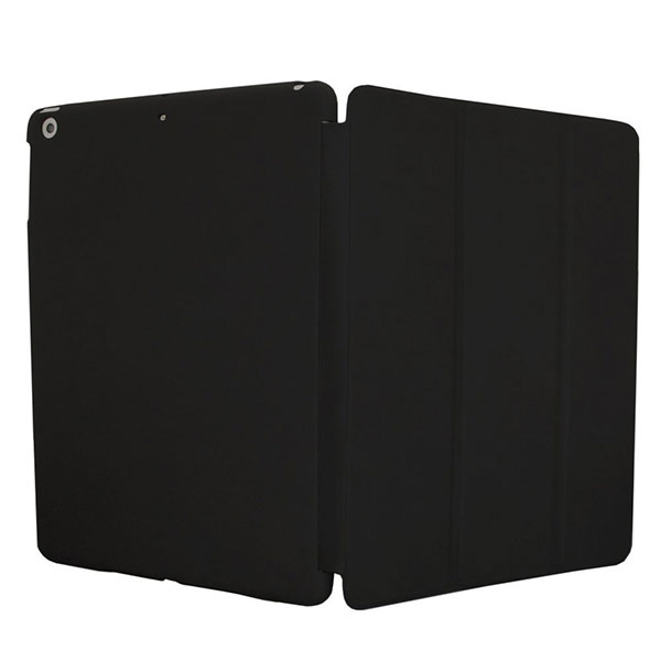 KHOMO ® Funda NEGRA DUAL Doble Protección Ultra Delgada y Ligera con Smart Cover para Nuevo Apple iPad 5 AIR
