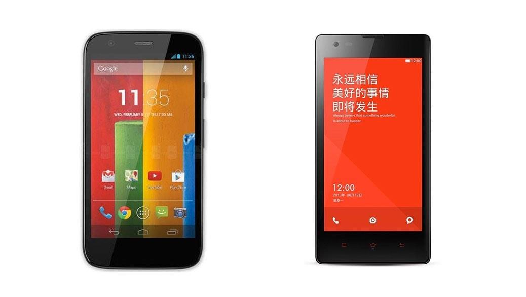 Xiaomi Red Rice 1S vs Motorola Moto G: comparativa smartphones Android