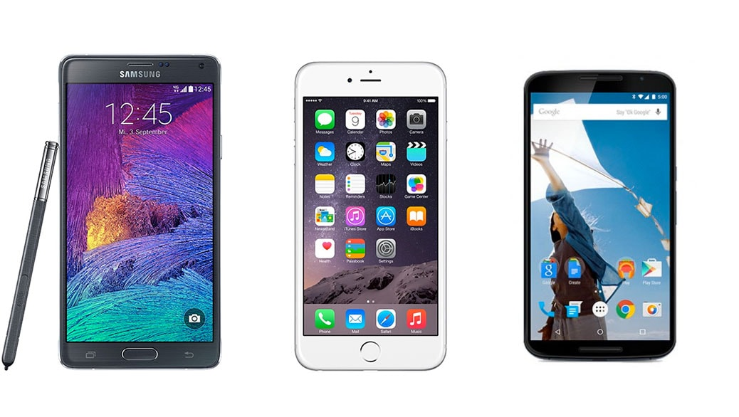 Google Nexus 6 vs Samsung Galaxy Note 4 vs Apple iPhone 6 Plus: comparativa phablets