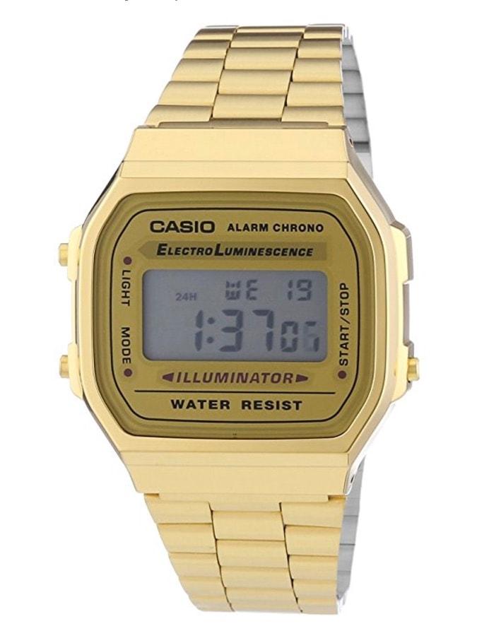 Casio Collection – Reloj Unisex Digital con Correa de Acero Inoxidable – A168WG Dorado