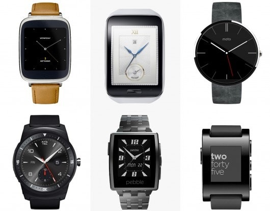 Comparativa smartwatch 2014: Asus ZenWatch vs Samsung Gear S vs Motorola Moto 360 vs LG G Watch R vs Pebble Steel vs Pebble