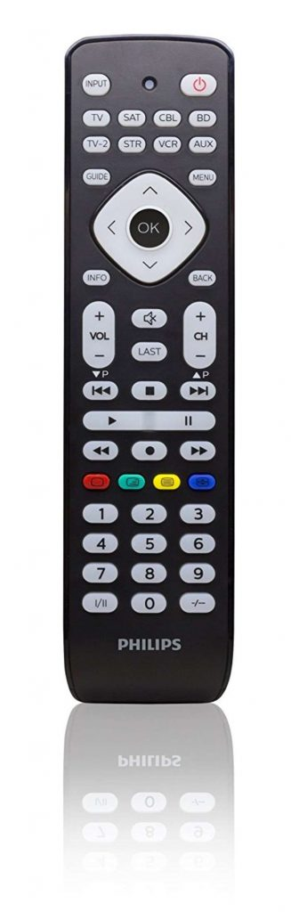Philips SRP2018/10 - Mando a distancia universal (Televisor, DVD, Blue-ray, Cable, VCR, DTV, DVR, aparatos stream)