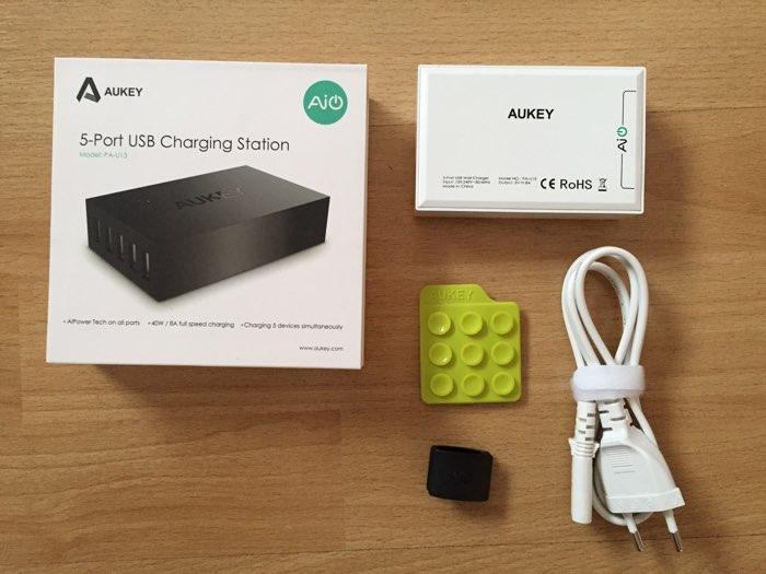 cargador USB Aukey con 5 puertos (Aukey PA-U13)