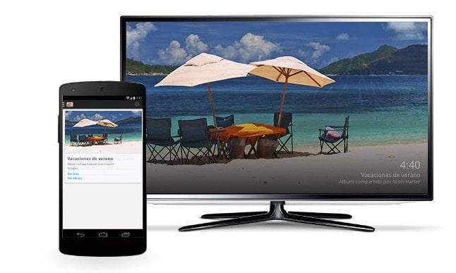 Función Backdrop o Fondo de pantalla de Chromecast