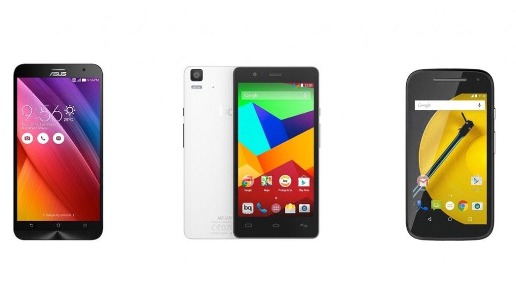 Los mejores smartphones Android por calidad precio de 2015