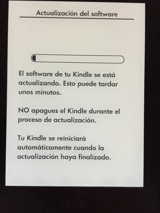 Ten el firmware actualizado de tu Kindle