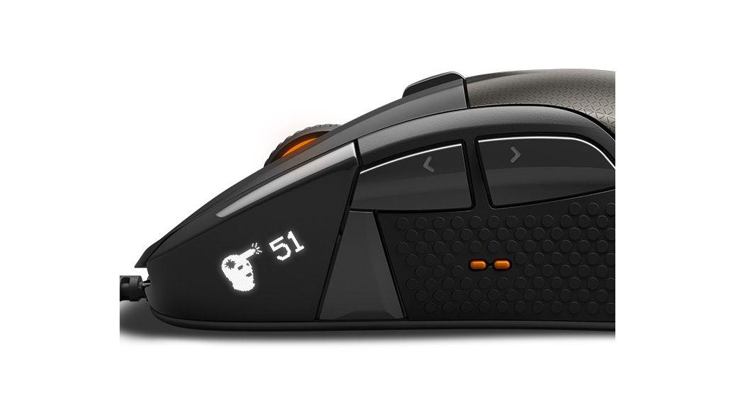 SteelSeries Rival 700 Modular Gaming Mouse – Ratón equipado con una pantalla LCD