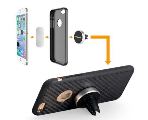 Soporte magnético para smartphones en el coche de Ubegood – Opinión