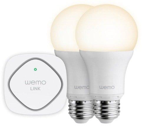 Las mejores bombillas inteligentes inalámbricas LED: Belkin_WeMo_Kit_iluminacion_LED