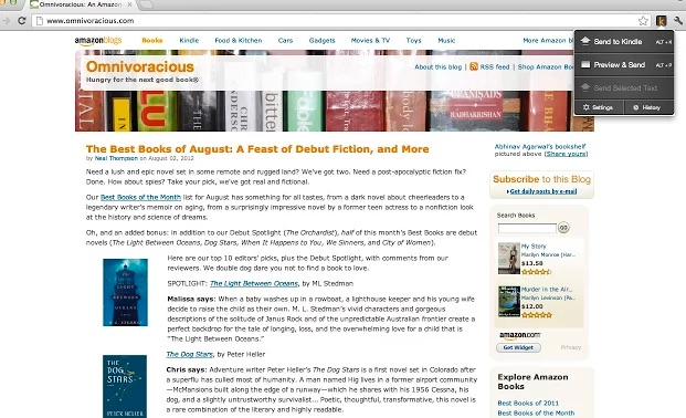 Envía paginas web a tu Kindle con una extensión