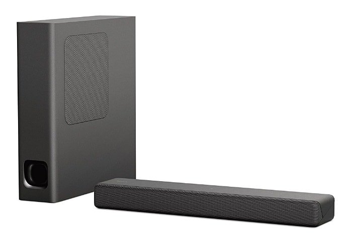 Sony HT-MT300 - Barra de sonido compacta (2.1 canales, con Bluetooth, NFC, S-Force Pro Front surround, subwoofer inalámbrico)