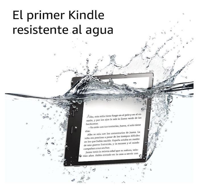 "Nuevo e-reader Kindle Oasis, resistente al agua, pantalla de 7"""