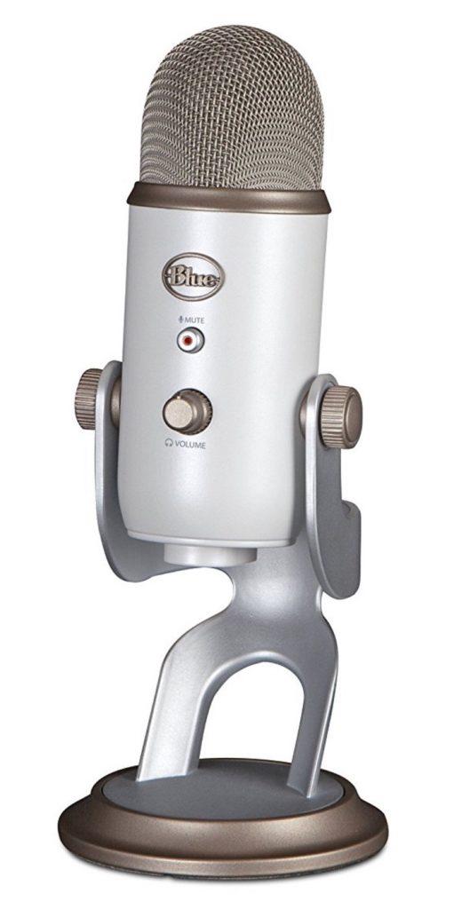 Blue Microphones Yeti Vintage White - Micrófono para ordenador (USB, 16-bit, 48 KHz, 16 ohms, 20 Hz - 20 kHz), color blanco