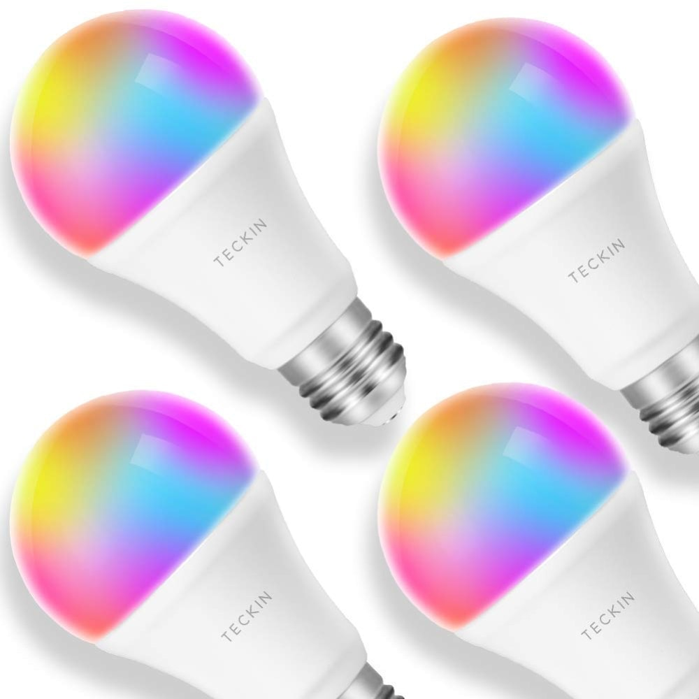 Las mejores bombillas inteligentes inalámbricas LED: Bombilla LED inteligente con WiFi de TECKIN