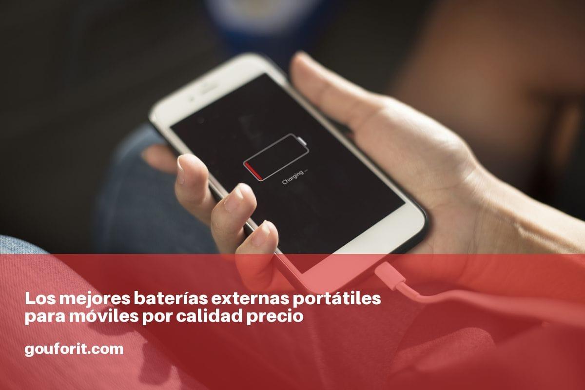 Los mejores baterías externas portátiles para móviles por calidad precio