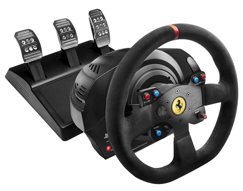 Thrustmaster T300 Ferrari Integral Alcantara Edition - Volante para PS4, PS3 y PC