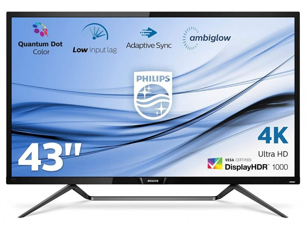 Philips Pantalla 4K HDR con Ambiglow 436M6VBPAB/00
