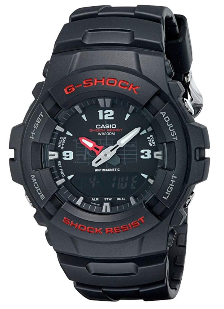 Casio G-Shock G100-1BV: otro reloj barato y muy fácil de usar