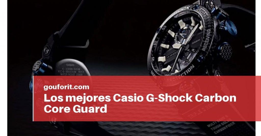 Los mejores Casio G-Shock Carbon Core Guard