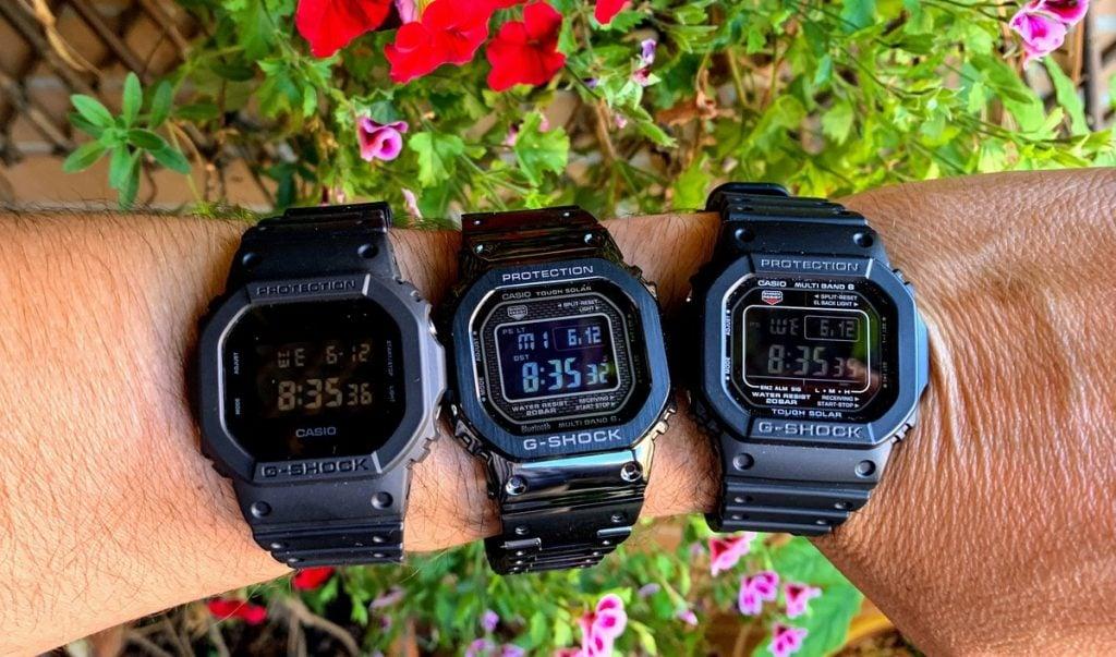 Casio G-Shock DW-5600BB-1ER vs Casio G-Shock GMW-B5000GD-1ER vs Casio G-Shock GW-5610-1BER