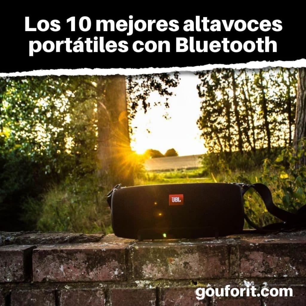 mejores altavoces portátiles con Bluetooth