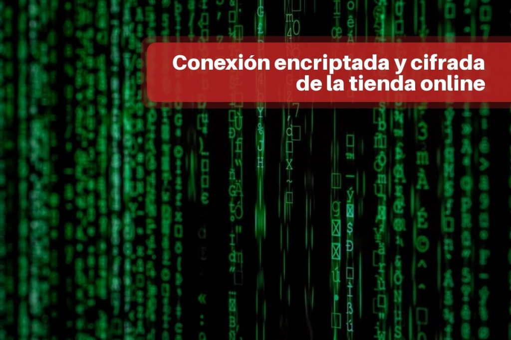 Conexión encriptada y cifrada de la tienda online