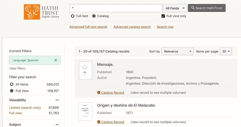 El mejor sitio para descargar ebooks gratis en español para tu Kindle: www.hathitrust.org