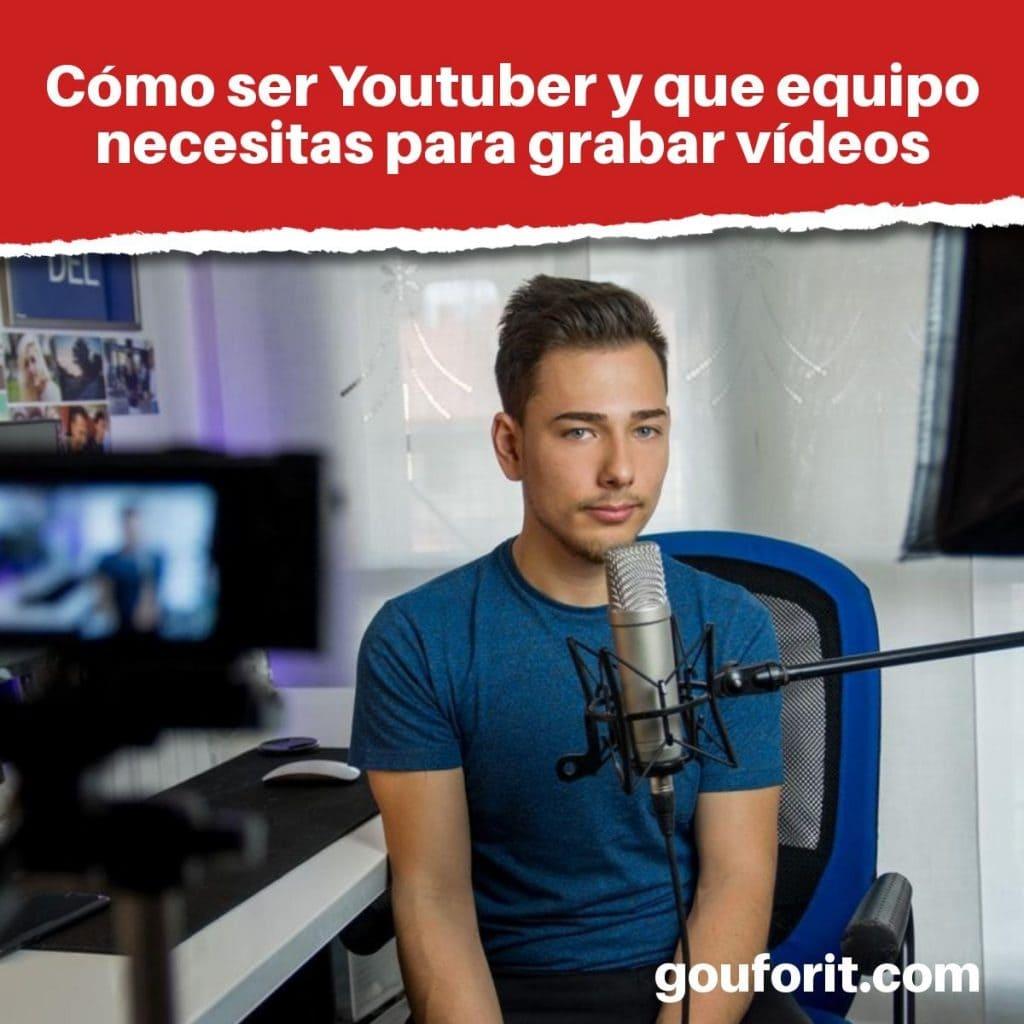 El mejor kit de Youtuber: Equipo para grabar audio o vídeo para YouTube
