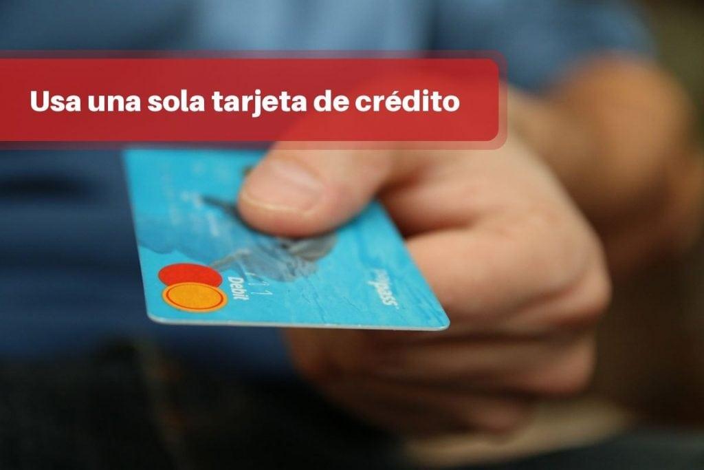 Usa una sola tarjeta de crédito