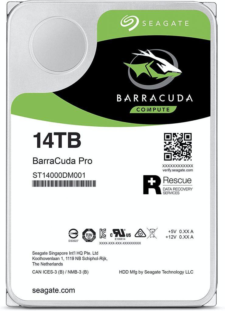 El mejor disco duro de 14TB: Seagate Barracuda Pro