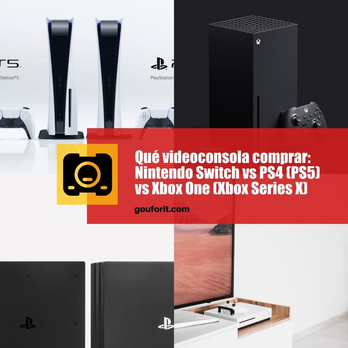 Qué videoconsola comprar: Nintendo Switch vs PS4 (PS5) vs Xbox One (Xbox Series X)