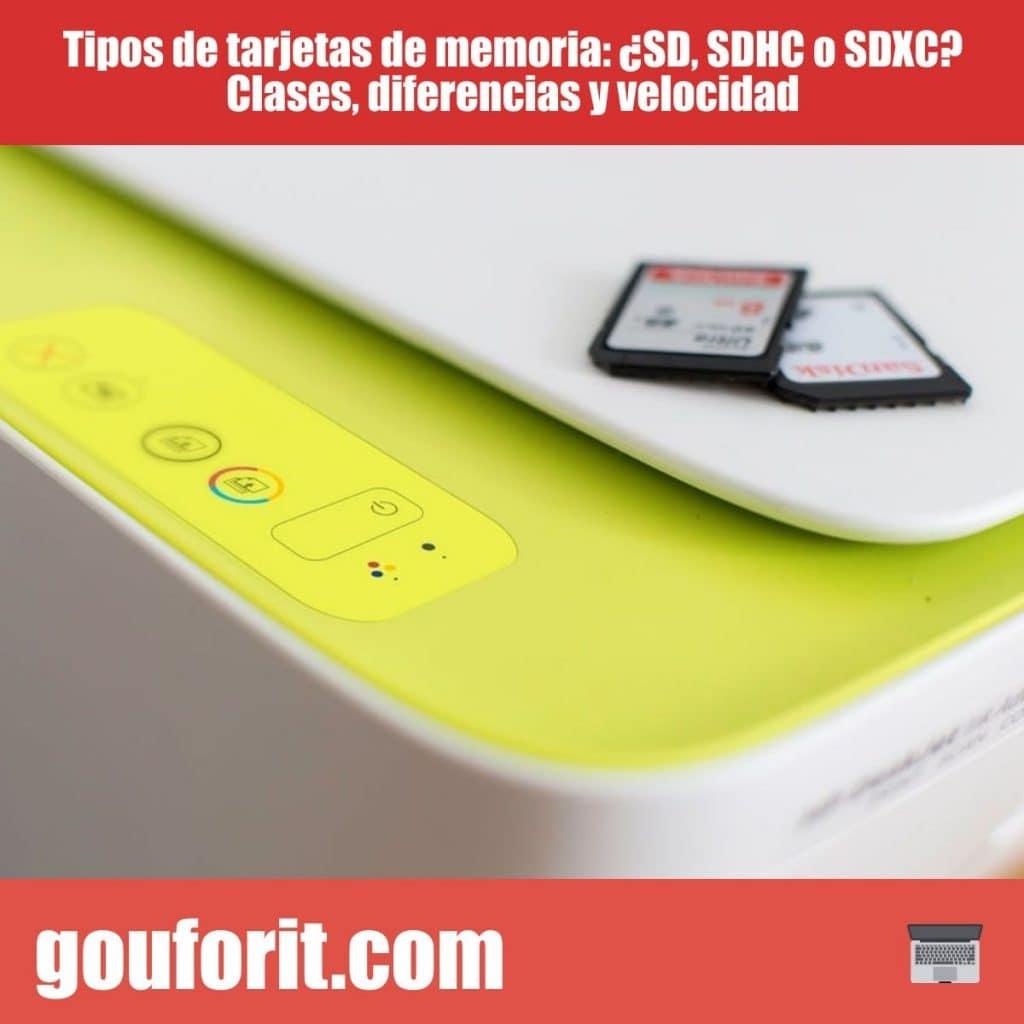Tipos de tarjetas de memoria: ¿SD, SDHC o SDXC? Clases, diferencias y velocidad