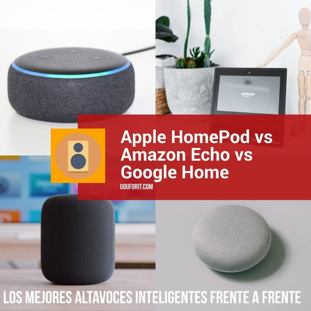 Apple HomePod vs Amazon Echo vs Google Home: los mejores altavoces inteligentes frente a frente