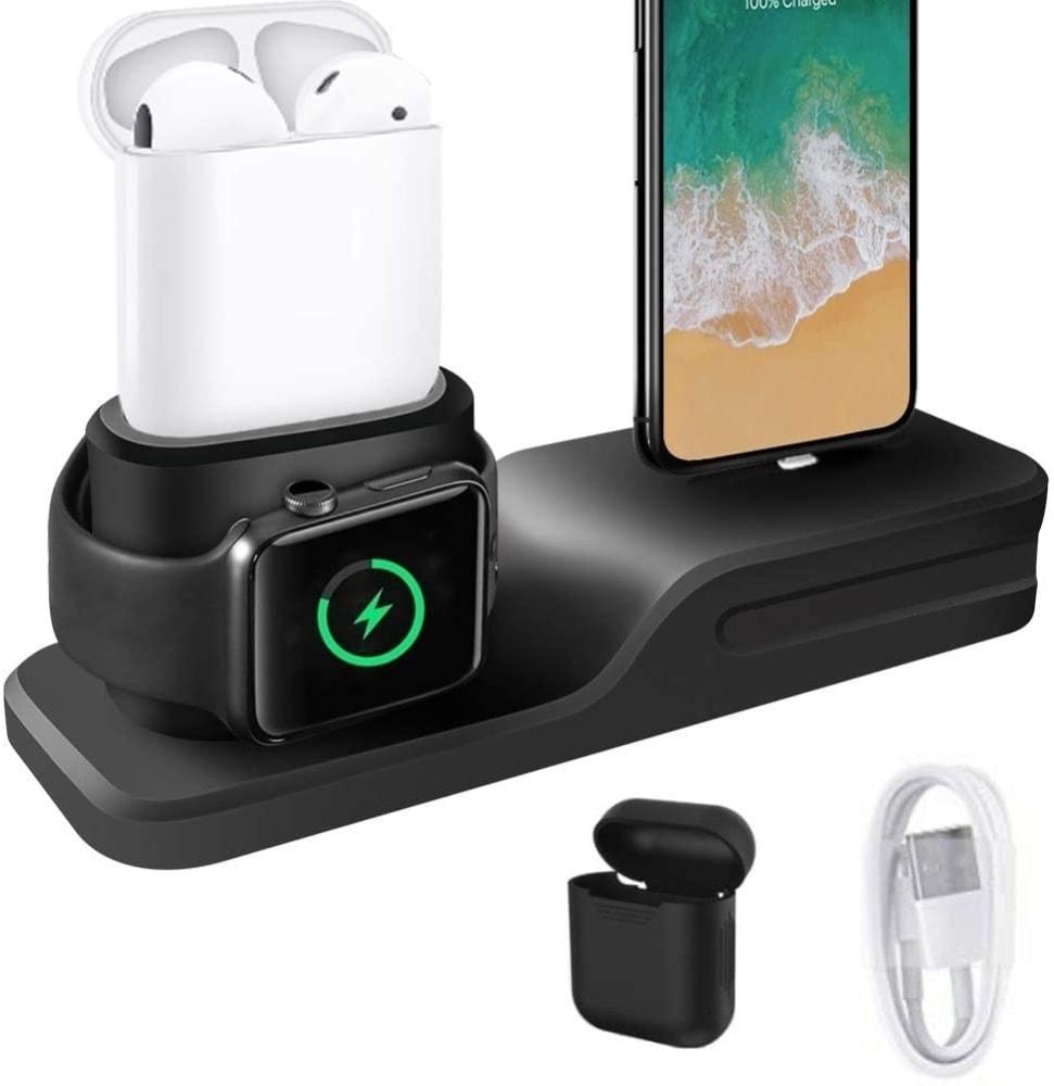 Cargador 3 en 1 para iPhone, AirPods y Apple Watch de Kehangda
