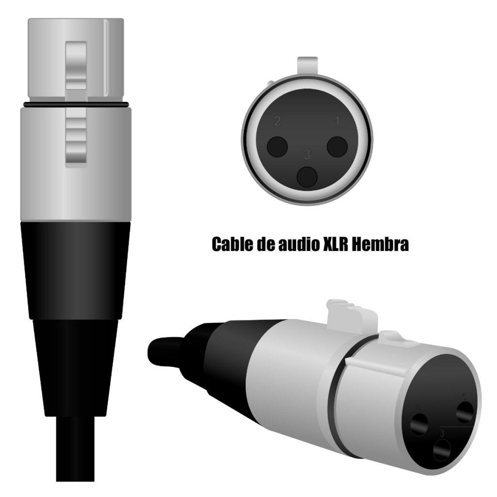 Cables de audio XLR hembra