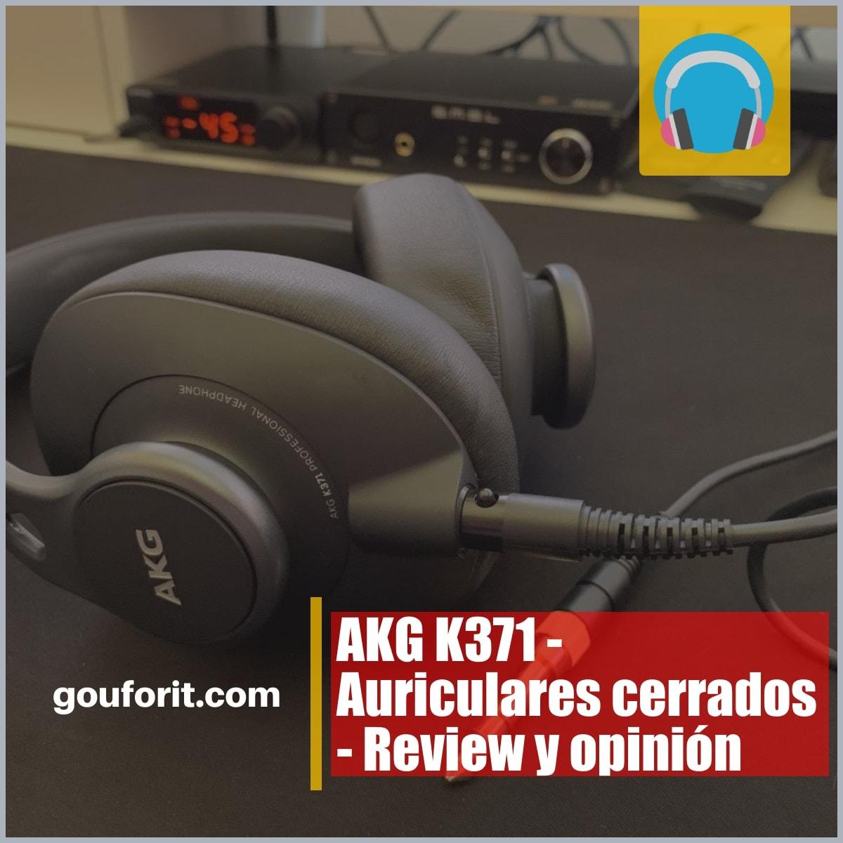 AKG K371 - Auriculares cerrados - Review y opinión