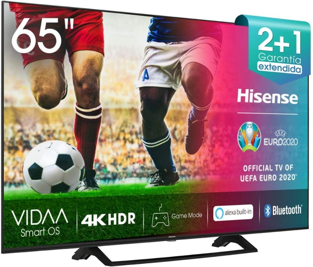 Hisense UHD TV 2020 65AE7200F - Smart TV Resolución 4K con Alexa integrada