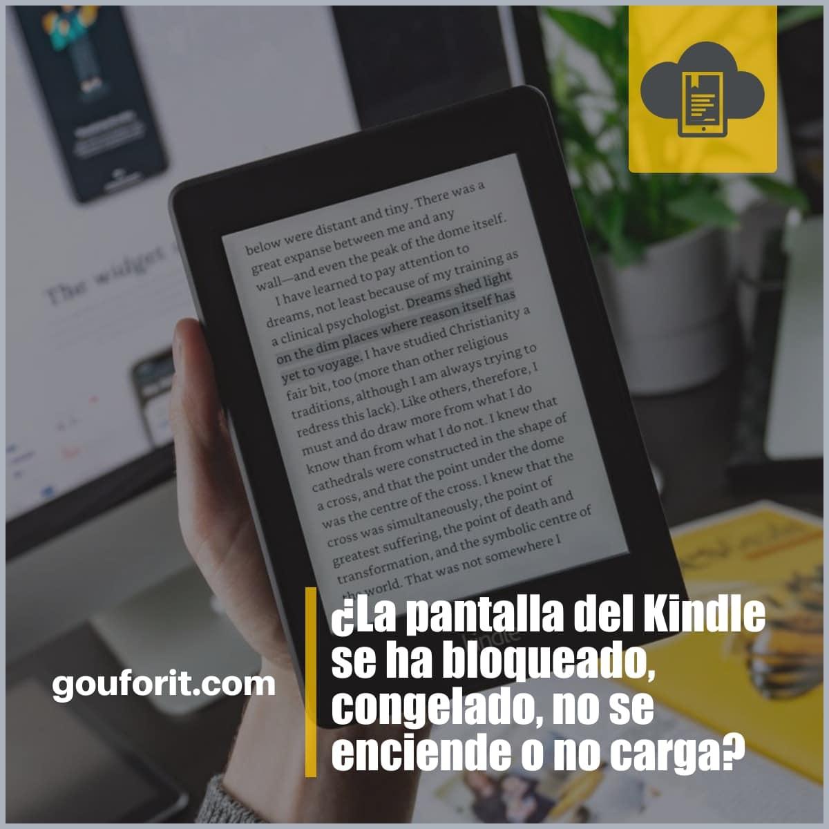 ¿La pantalla del Kindle se ha bloqueado, congelado, no se enciende o no carga?