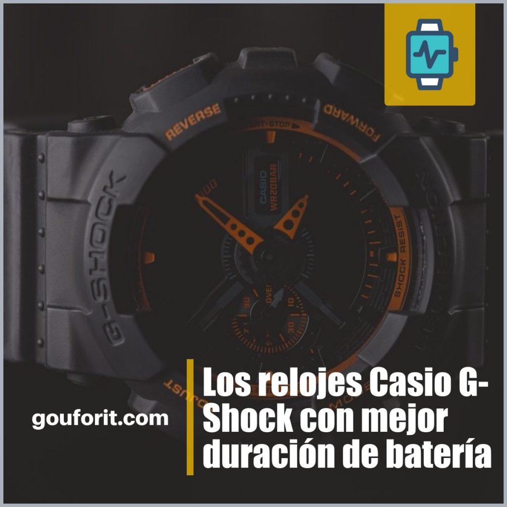 Los relojes Casio G-Shock con mejor duración de batería