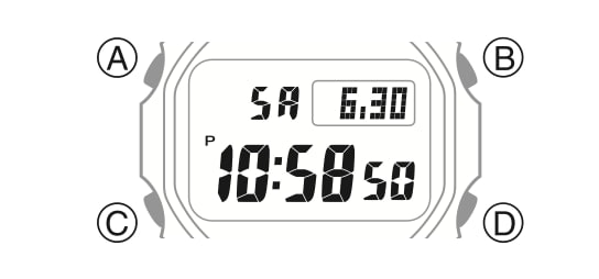 Casio G-Shock digital (modulo 3459/3461)