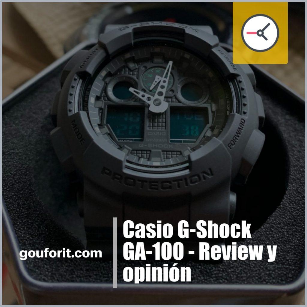 Casio G-Shock GA-100 - Review y opinión