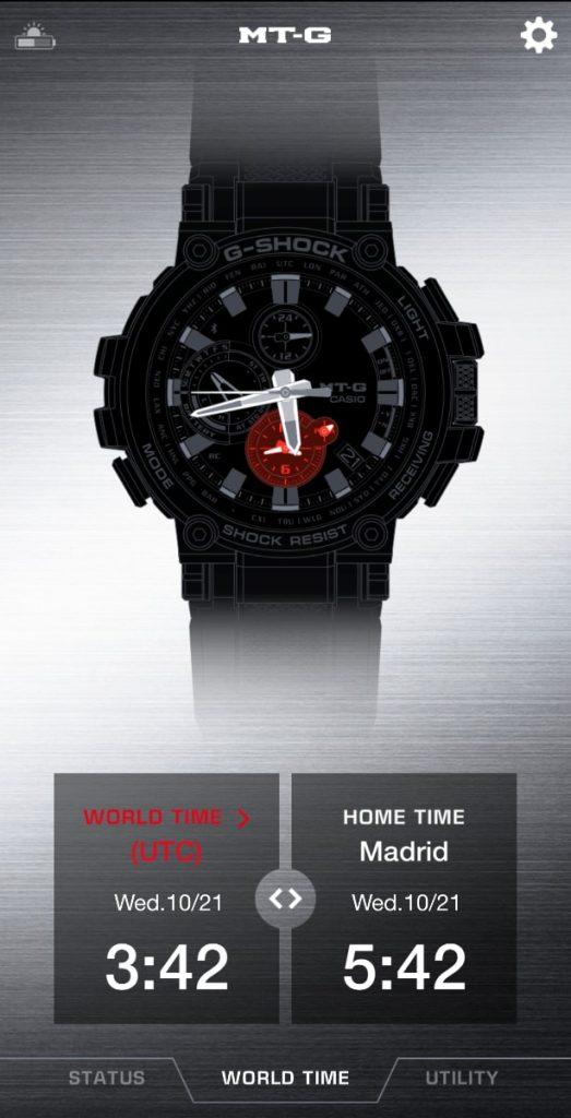 Cómo cambiar la hora en un Casio G-Shock en un modelo con bluetooth