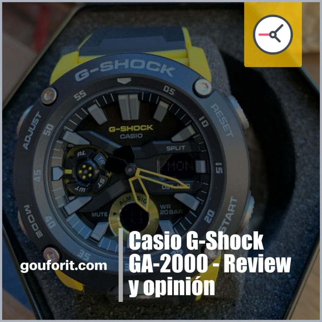 Casio G-Shock GA 2000 - Review y opinión