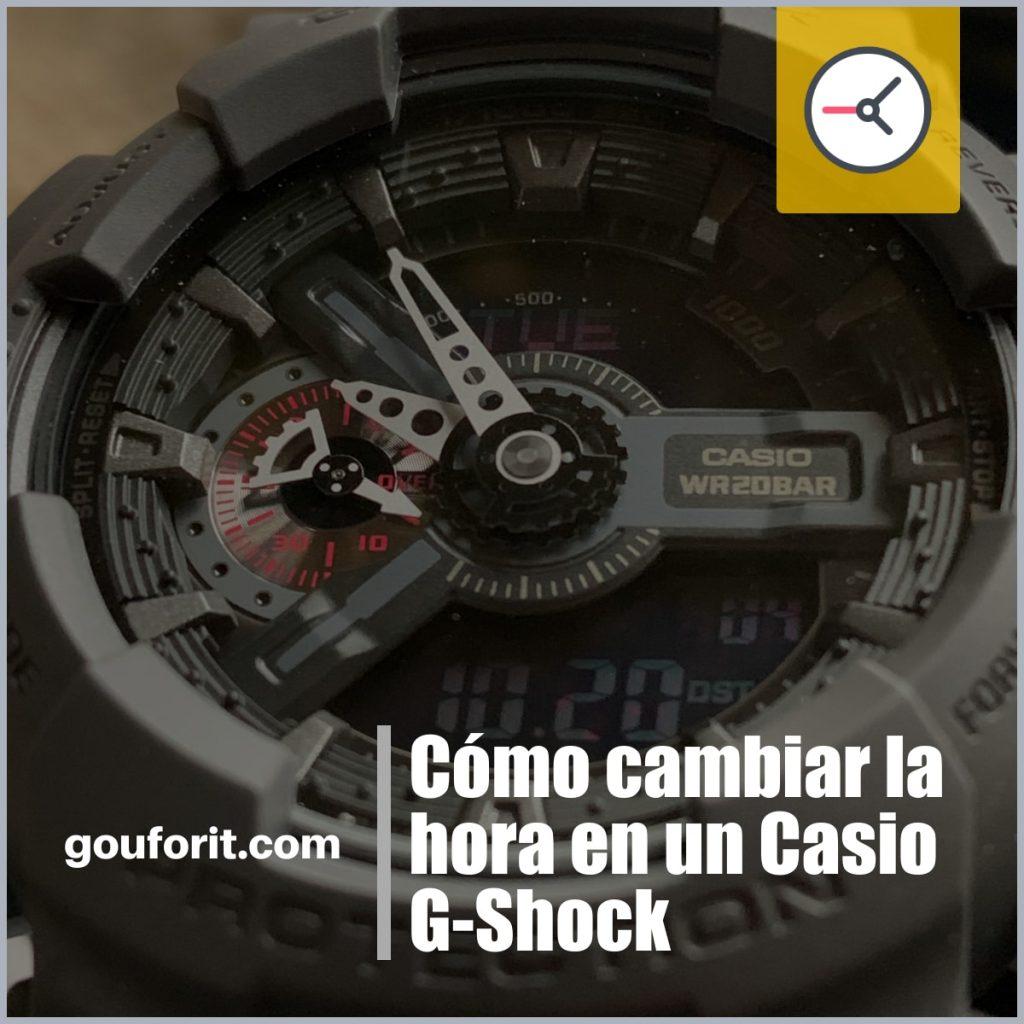 Cómo cambiar la hora en un Casio G-Shock